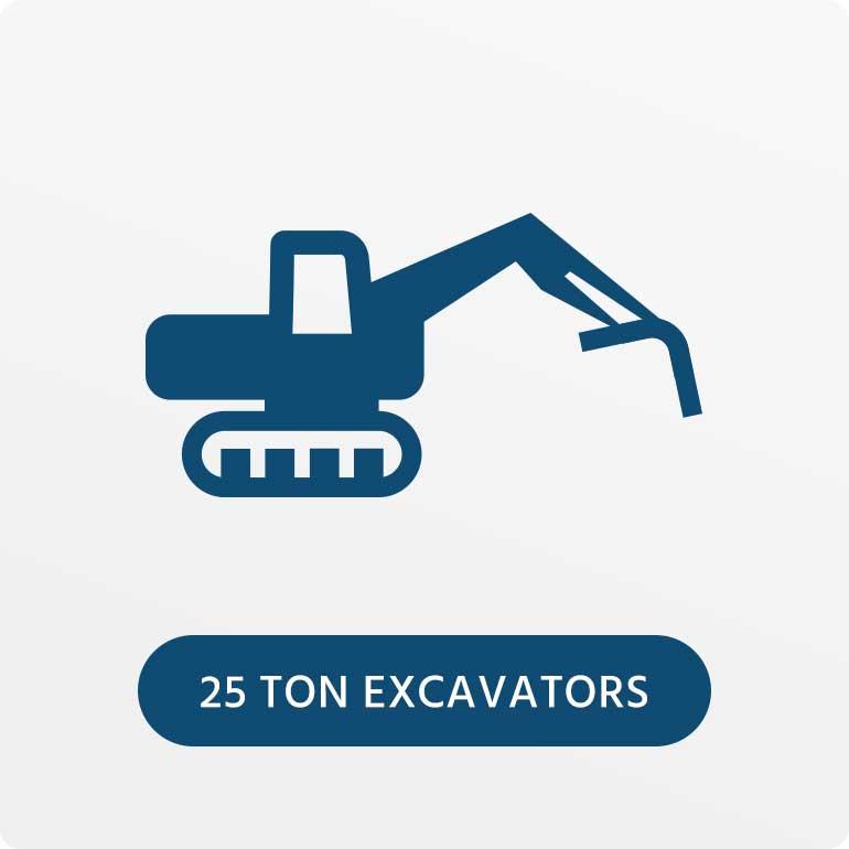25 Ton Excavators