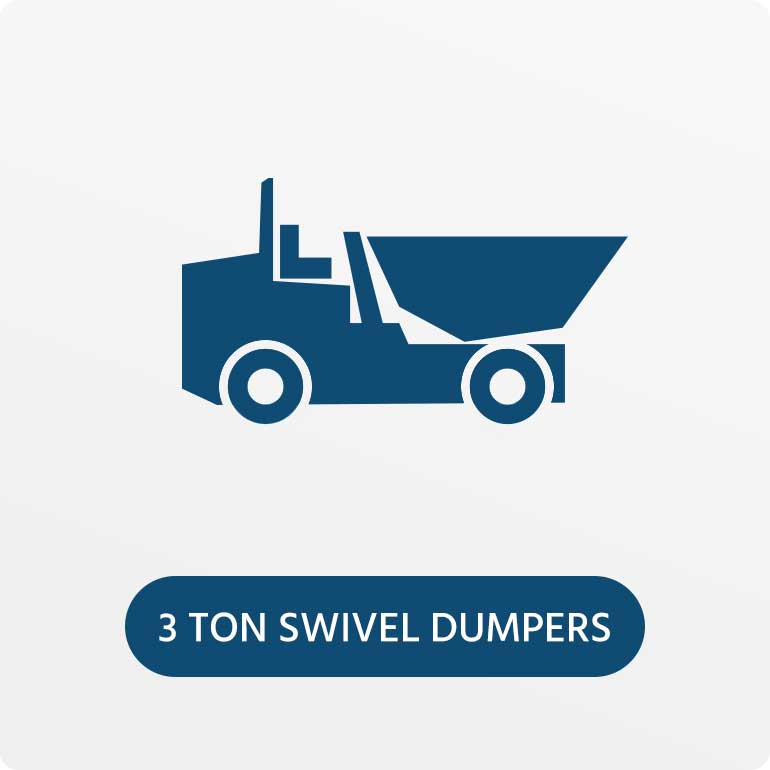 3 Ton Swivel Skip Dumpers