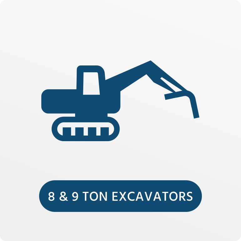 8 & 9 Ton Excavators