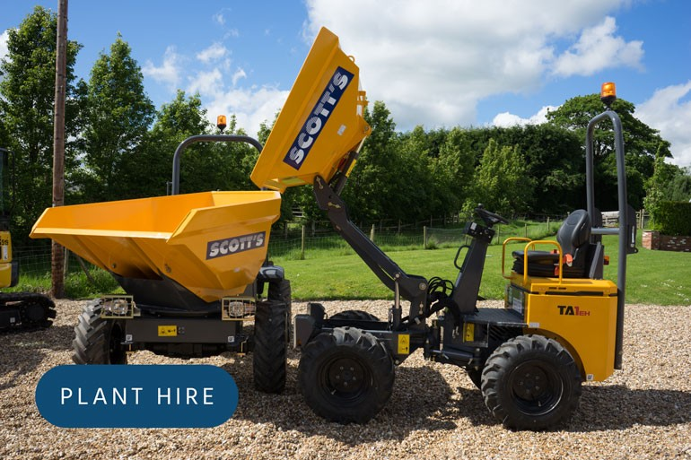View our comprehensive range of plant hire equipment