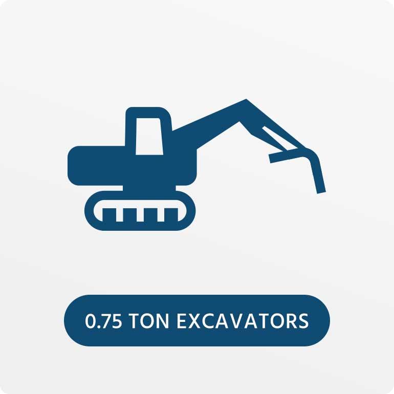 0.75 Ton Excavators Hire