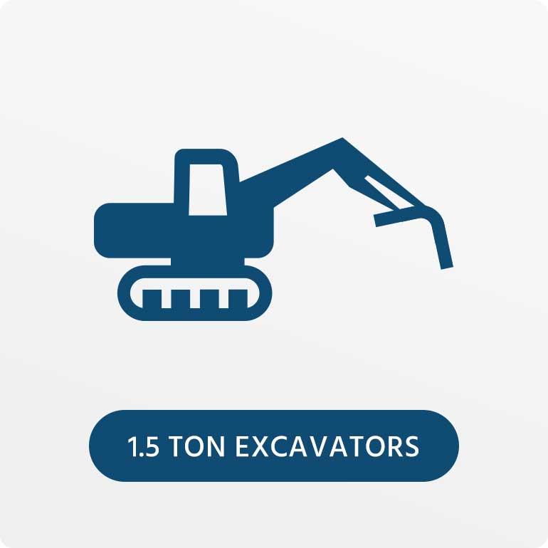 1.5 Ton Excavators